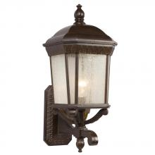 Galaxy Lighting 320371BZ - 1-Light Outdoor Wall Mount Lantern - Bronze with Clear Seeded Glass