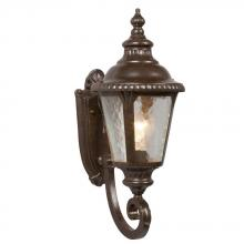 Galaxy Lighting 320481BZ - 1-Light Outdoor Wall Mount Lantern - Bronze with Clear Water Glass