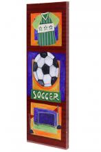 Style Craft WI32158DS - Soccer Hand Embellished Art on Canvas