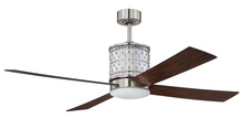 "Craftmade MAR52BNK4 - Marissa 52"" Ceiling Fan (Blades Included) in Brushed Polished Nickel"