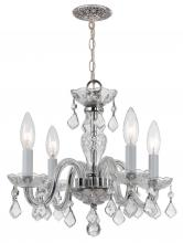 Crystorama 1064-CH-CL-MWP - Crystorama Traditional Crystal 4 Light Clear Crystal Chrome Mini Chandelier I