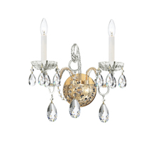 Crystorama 1122-PB-CL-MWP - Crystorama Traditional Crystal 2 Light Clear Crystal Brass Sconce II