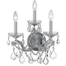 Crystorama 4403-CH-CL-MWP - Crystorama Maria Theresa 3 Light Clear Crystal Chrome Sconce II