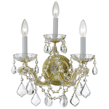 Crystorama 4403-GD-CL-MWP - Crystorama Maria Theresa 3 Light Clear Crystal Gold Sconce II