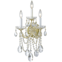 Crystorama 4423-GD-CL-MWP - Crystorama Maria Theresa 3 Light Clear Crystal Gold Sconce I