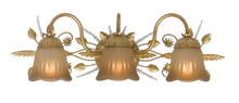 Crystorama 4743-GL - Crystorama Primrose 3 Light Swarovski Spectra Crystal Gold Vanity Light