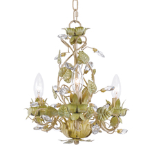 Crystorama 4843-CT - Crystorama Josie 3 Light Champagne Green Tea Mini Chandelier