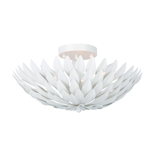Crystorama 505-MT - Crystorama Broche 4 Light Matte White Ceiling Mount
