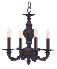 Crystorama 5124-VB - Crystorama Paris Market 4 Light Bronze Mini Chandelier