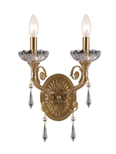 Crystorama 5152-AG-CL-MWP - Crystorama Regal 2 Light Clear Crystal Brass Sconce