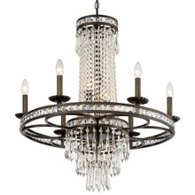 Crystorama 5266-EB-CL-MWP - Crystorama Mercer 10 Light Crystal Bronze Chandelier