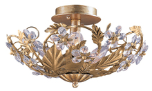 Crystorama 5316-GL - Crystorama Paris Market 6 Light Gold Semi-Flush I