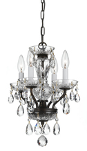 Crystorama 5534-EB-CL-MWP - Crystorama Traditional Crystal 4 Light Bronze Mini Chandelier