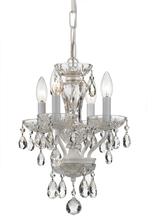 Crystorama 5534-WW-CL-I - Crystorama Traditional Italian Crystal 4 Light White Mini Chandelier