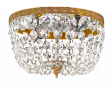Crystorama 708-OB-CL-MWP - Crystorama 2 Light Clear Crystal Olde Brass  Ceiling Mount