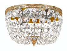 Crystorama 710-OB-CL-MWP - Crystorama 2 Light Clear Crystal Olde Brass Ceiling Mount
