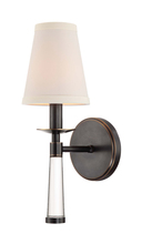 Crystorama 8861-OR - Crystorama Baxter 1 Light Oil Rubbed Bronze Sconce