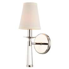 Crystorama 8861-PN - Crystorama Baxter 1 Light Polished Nickel Sconce