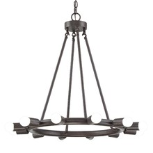 Crystorama 9045-CZ - Crystorama Dakota 12 Light Bronze Chandelier