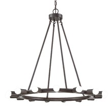Crystorama 9046-CZ - Crystorama Dakota 15 Light Bronze Chandelier