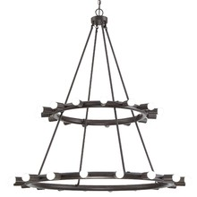 Crystorama 9049-CZ - Crystorama Dakota 33 Light Bronze Chandelier