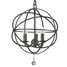 Crystorama 9225-EB - Crystorama Solaris 3 Light English Bronze Mini Chandelier
