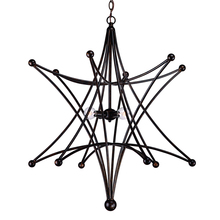 Crystorama 9236-EB - Crystorama Astro 4 Light Bronze Star Chandelier