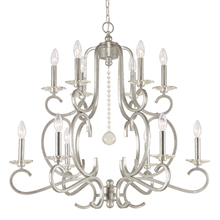 Crystorama 9349-OS - Crystorama Orleans 12 Light Silver Chandelier