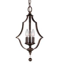 Crystorama 9350-EB - Crystorama Parson 3 Light English Bronze Mini Chandelier