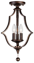 Crystorama 9350-EB_CEILING - Crystorama Parson 3 Light English Bronze Semi-Flush