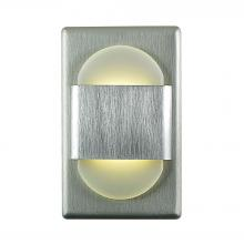 Alico WLE105DR32K-10-98 - EZ Step LED Wall Light In Brushed Aluminum With White Opal Acrylic Diffuser