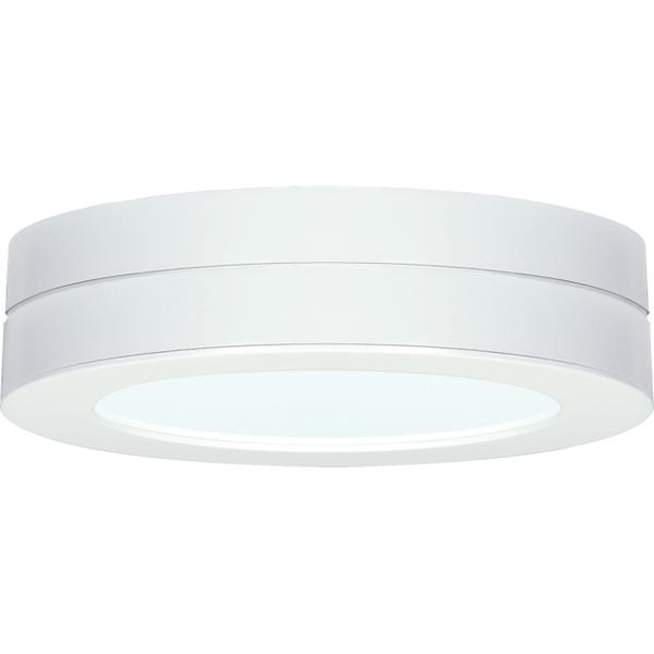 "Battery backup module for flush mount LED fixture; 7"" round; White finish"