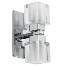 Dainolite 83889A-PC - 2LT Wall Sconce Cube Crystal