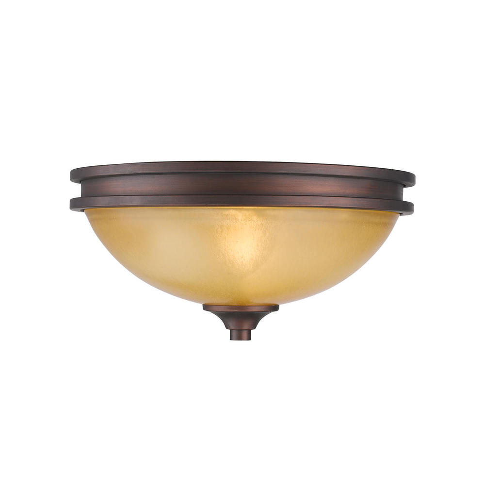 Hidalgo Flush Mount in Sovereign Bronze with Regal Glass