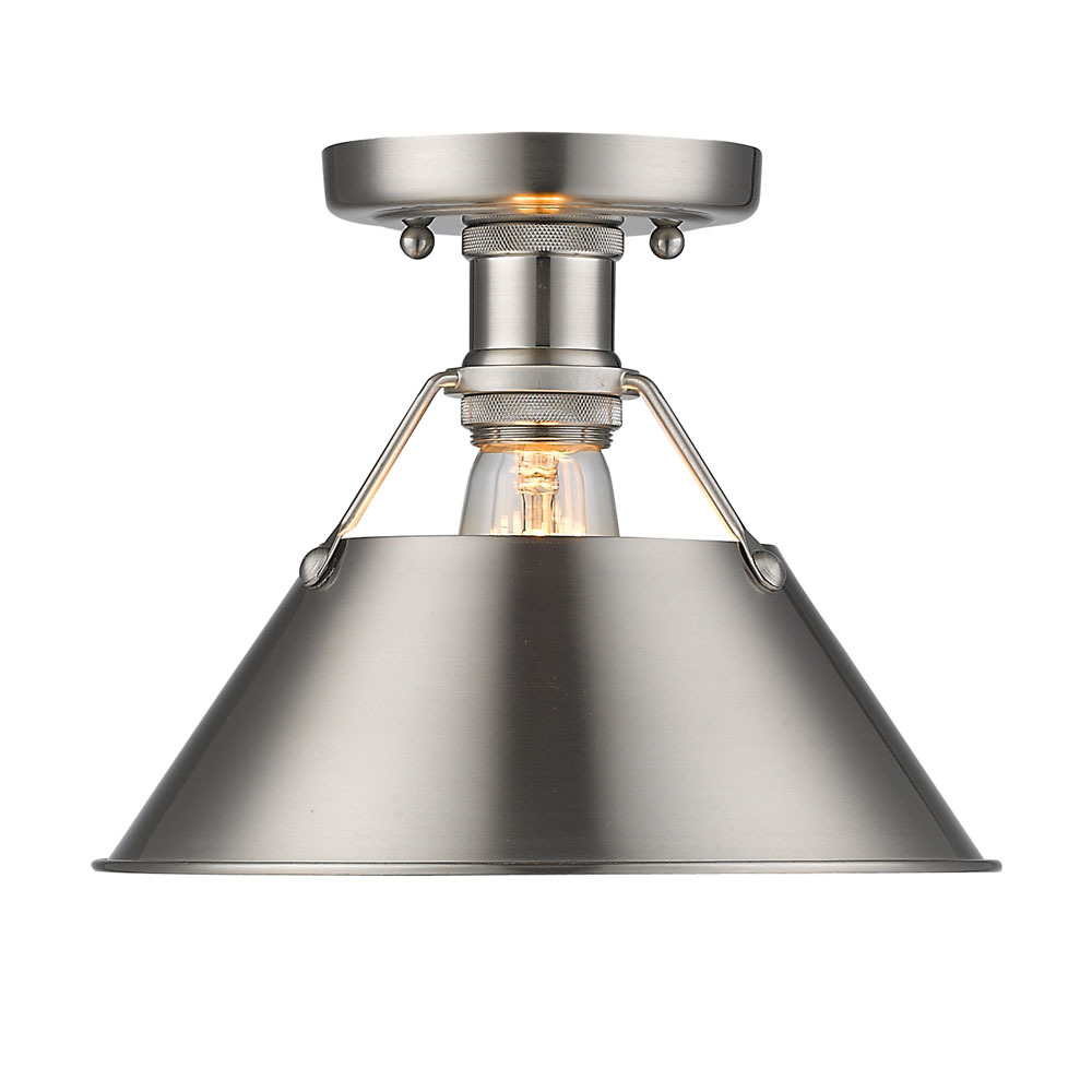 Orwell PW Flush Mount in Pewter with Pewter Shade