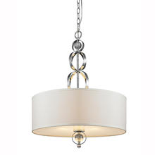 Golden Canada 1030-3P CH - Cerchi 3 Light Pendant in Chrome with Opal Satin Shade