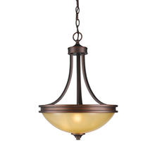 Golden Canada 1051-3P SBZ - Hidalgo 3 Light Pendant in Sovereign Bronze with Regal Glass