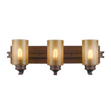 Golden Canada 1051-BA3 SBZ - Hidalgo 3 Light Bath Vanity in Sovereign Bronze with Regal Glass