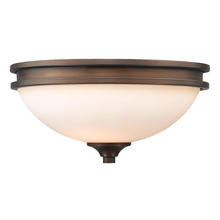 Golden Canada 1051-FM SBZ-OP - Hidalgo Flush Mount in the Sovereign Bronze finish with Opal Glass