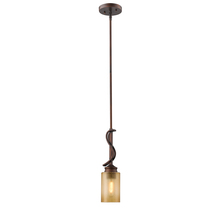 Golden Canada 1051-M1L SBZ - Hidalgo Mini Pendant in Sovereign Bronze with Regal Glass