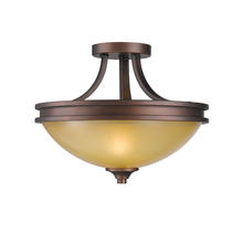 Golden Canada 1051-SF SBZ - Hidalgo Semi-Flush in Sovereign Bronze with Regal Glass