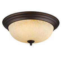 Golden Canada 1260-15 RBZ-TEA - Multi-Family Flush Mount in Rubbed Bronze with Tea Stone Glass