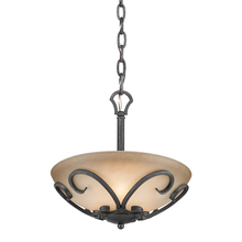 Golden Canada 1821-SF BI - Madera Semi-Flush (Convertible) in Black Iron with Toscano Glass