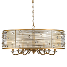 Golden Canada 1993-8 PG - Joia 8 Light Chandelier in Peruvian Gold with a Sheer Filigree Mist Shade