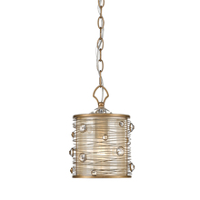 Golden Canada 1993-M1L PG - Joia Mini Pendant in Peruvian Gold with a Sheer Filigree Mist Shade