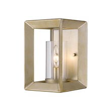 Golden Canada 2073-1W WG-CLR - Smyth 1 Light Wall Sconce in White Gold with Clear Glass