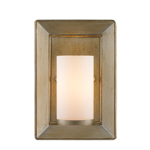 Golden Canada 2073-1W WG - Smyth 1 Light Wall Sconce in White Gold with Opal Glass