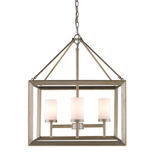 Golden Canada 2073-4 WG - Smyth 4 Light Chandelier in White Gold with Opal Glass