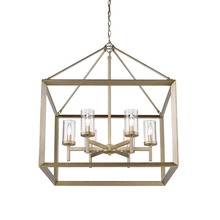Golden Canada 2073-6 WG-CLR - Smyth 6 Light Chandelier in White Gold with Clear Glass