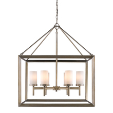 Golden Canada 2073-6 WG - Smyth 6 Light Chandelier in White Gold with Opal Glass